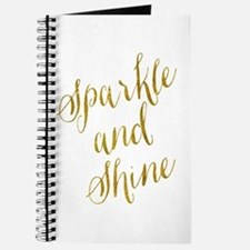 Sparkle and Shine Gold Faux Foil Metallic Journal