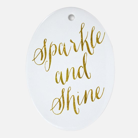 Sparkle and Shine Gold Faux Foil Met Oval Ornament