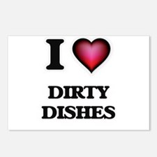 I love Dirty Dishes Postcards (Package of 8)