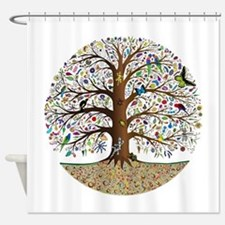 Funny Tree life Shower Curtain