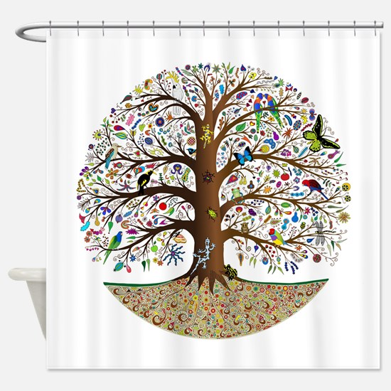 Cute Tree Shower Curtain