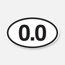 0.0 Mile Marker Oval Car Magnet