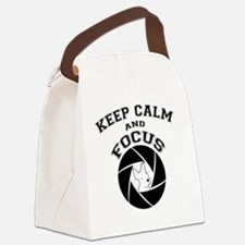 keep calm and focus Canvas Lunch Bag