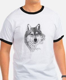 Wolf Face by Kelly Six T-Shirt