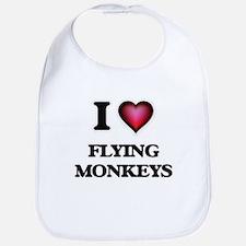 I love Flying Monkeys Baby Bib