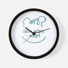 save a life - adopt Wall Clock