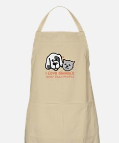 i love animals more than people Apron