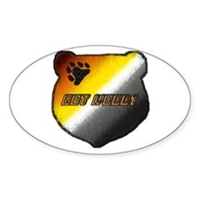 GOT WOOD? BEAR PRIDE HEAD Oval Decal