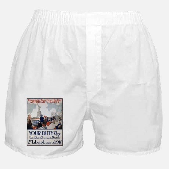 Vintage poster - Statue of Liberty Boxer Shorts