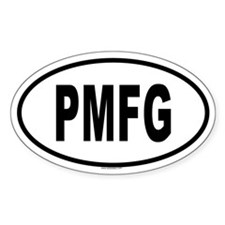 PMFG Oval Decal