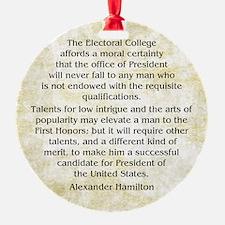 Alexander Hamilton Federalist 68 Ornament