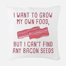 Bacon Seeds Woven Throw Pillow