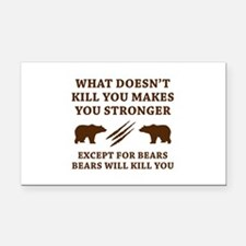 Except For Bears Rectangle Car Magnet