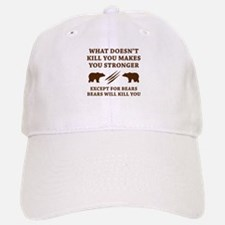 Except For Bears Baseball Baseball Cap