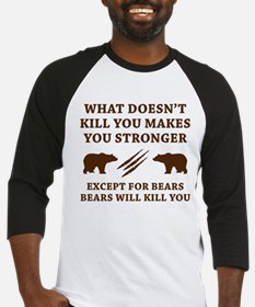 Except For Bears Baseball Jersey