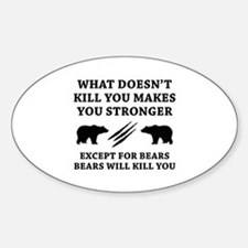 Except For Bears Decal