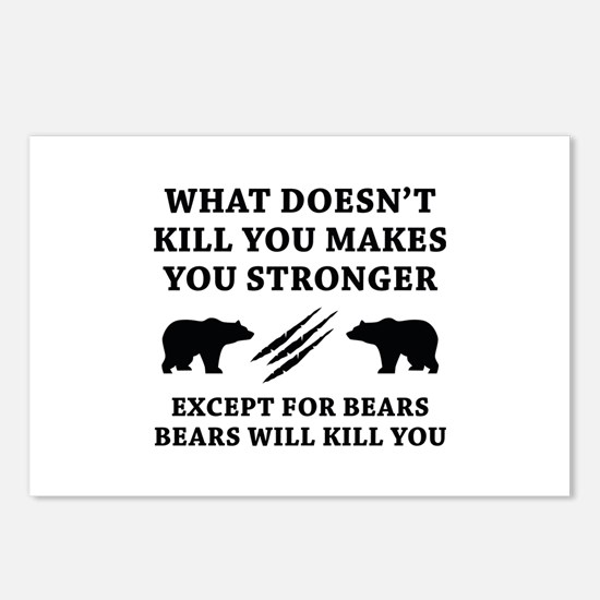 Except For Bears Postcards (Package of 8)