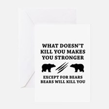 Except For Bears Greeting Card