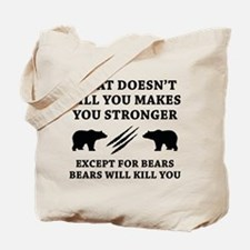 Except For Bears Tote Bag