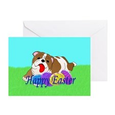 Bulldog Easter Greeting Cards (Pk of 20)