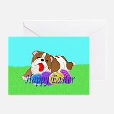 Bulldog Easter Greeting Cards (Pk of 20)