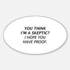 Skeptic Sticker (Oval)