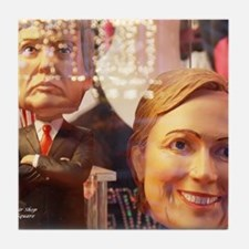 Donald and Hillary Tile Coaster