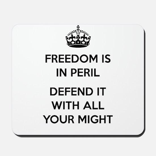 Freedom in Peril II Mousepad