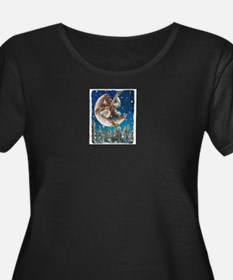 Banjo Chicken Moon Plus Size T-Shirt