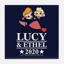 Lucy and Ethel 2020 Tile Coaster