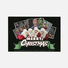 I Love Lucy: Christmas Rectangle Magnet