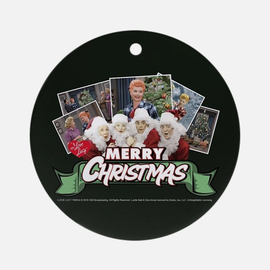 I Love Lucy: Christmas Round Ornament
