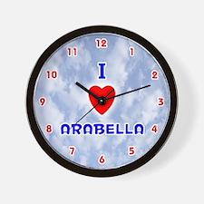 I Love Arabella (Red/Bl) Valentine Wall Clock