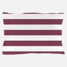 Purple, Mulberry: Stripes Pattern (Hor Pillow Case