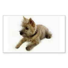 Cairn Terrier Puppy Rectangle Decal