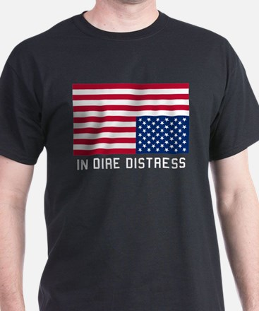 Upside Down Flag Distress T-Shirt