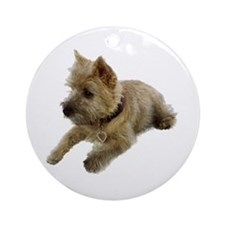 Cairn Terrier Puppy Ornament (Round)