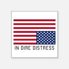 Upside Down Flag Distress Sticker