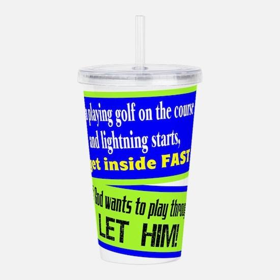 Lightning Acrylic Double-wall Tumbler