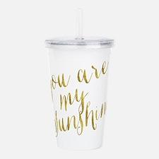 You Are My Sunshine Go Acrylic Double-wall Tumbler