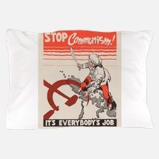 Vintage poster - Stop Communism Pillow Case