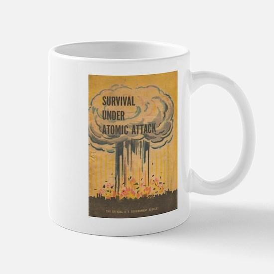 Vintage poster - Survival under atomic attack Mugs