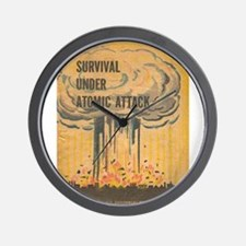 Vintage poster - Survival under atomic Wall Clock