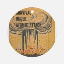 Vintage poster - Survival under ato Round Ornament