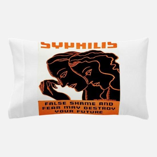 Vintage poster - Syphilis Pillow Case