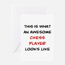 awesome chess player Greeting Card