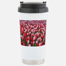 Red and Pink Tulips of Stainless Steel Travel Mug