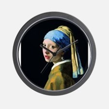 Jan Vermeer Girl With A Pearl Earring Wall Clock
