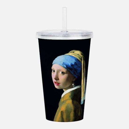 Jan Vermeer Girl With Acrylic Double-wall Tumbler
