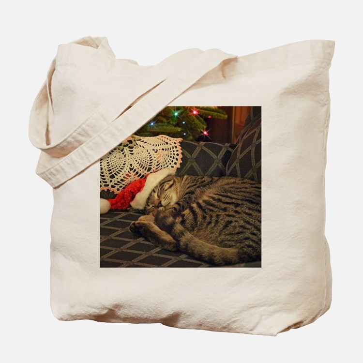 Santa Daisy the cat Tote Bag